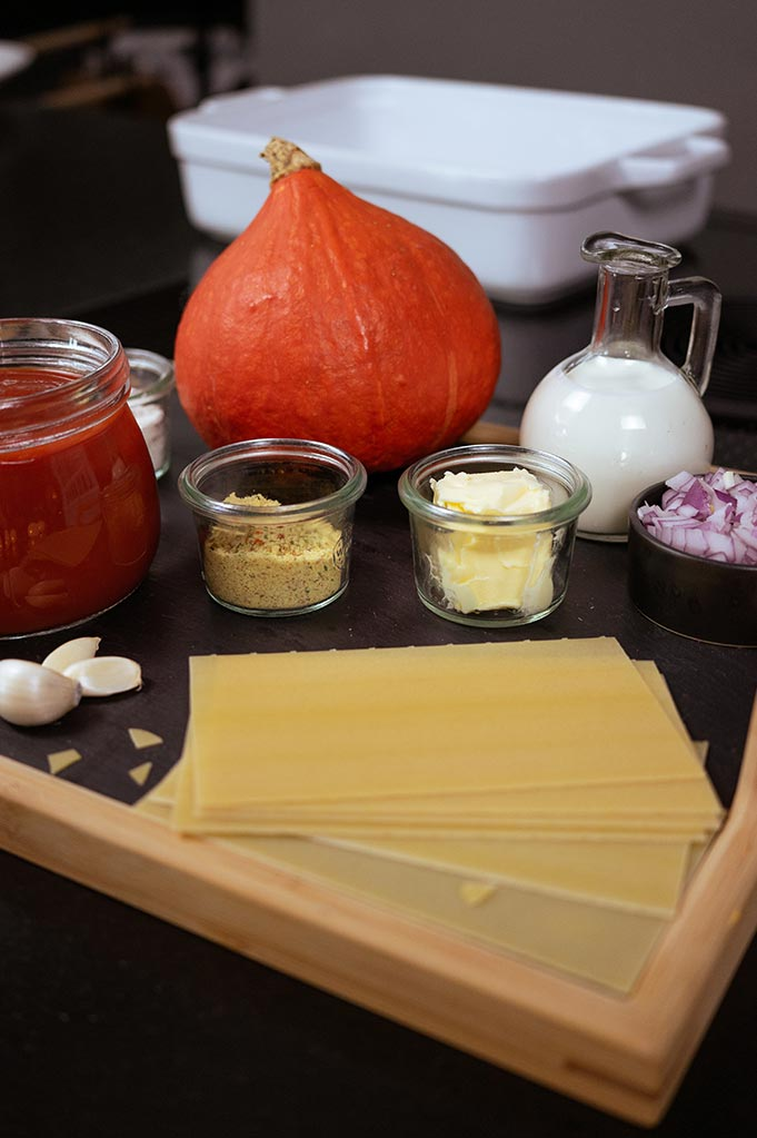 Kategorie Kürbis-Lasagne