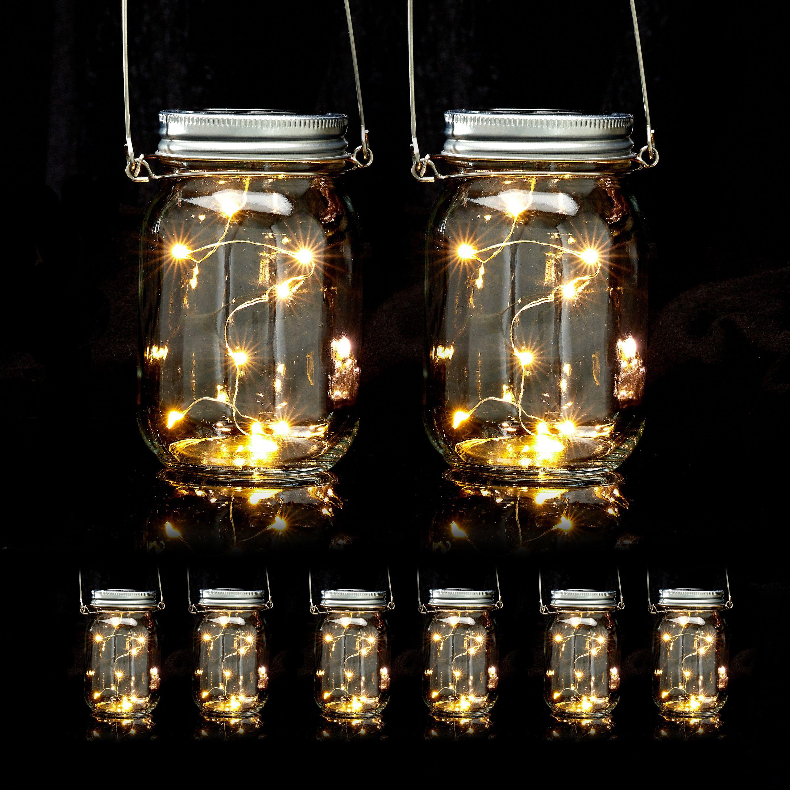 8 x LED Solar Glas