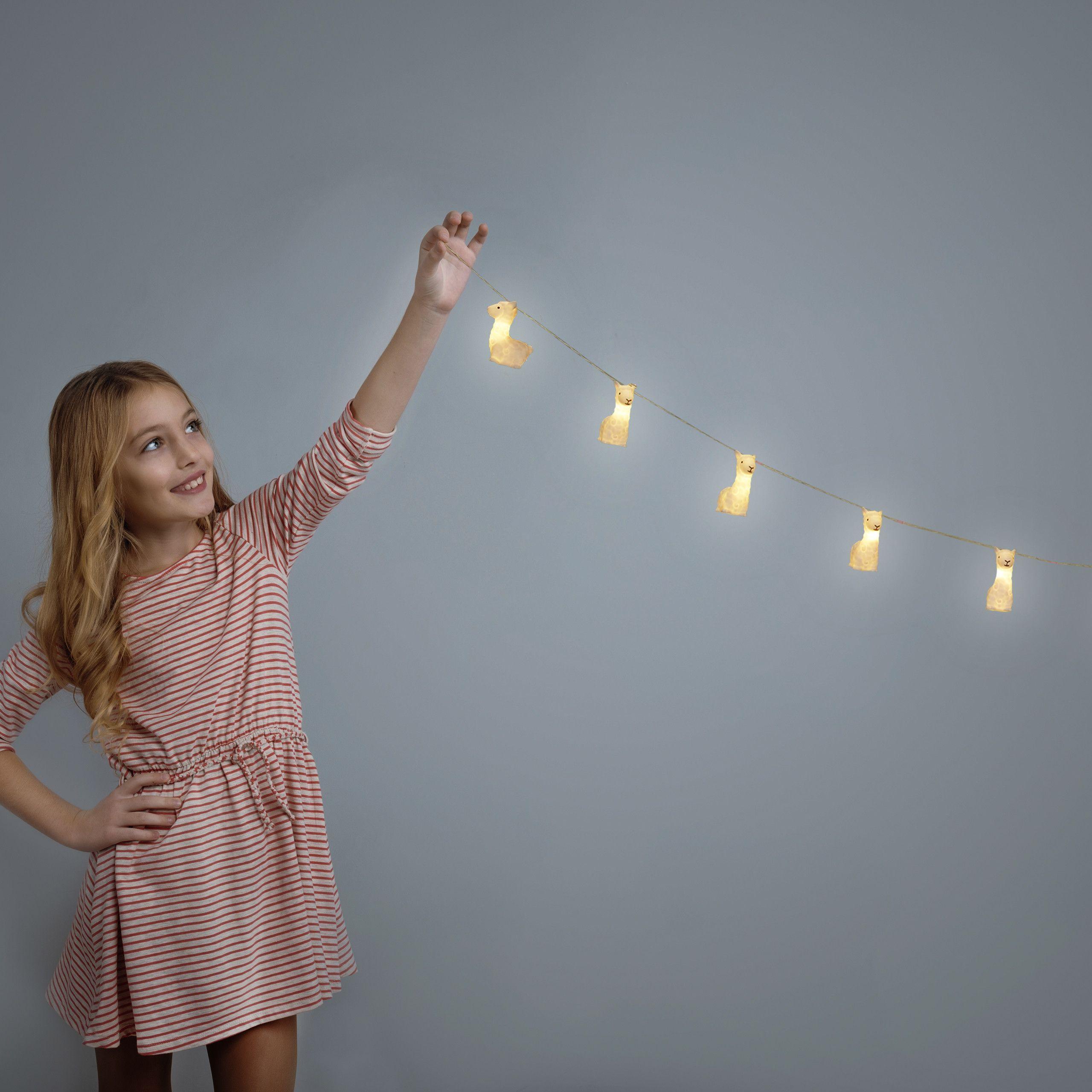 Lama Lichterkette Nacht Lichterkette LED Lichterkette Alpaka Lichtkette Batterie