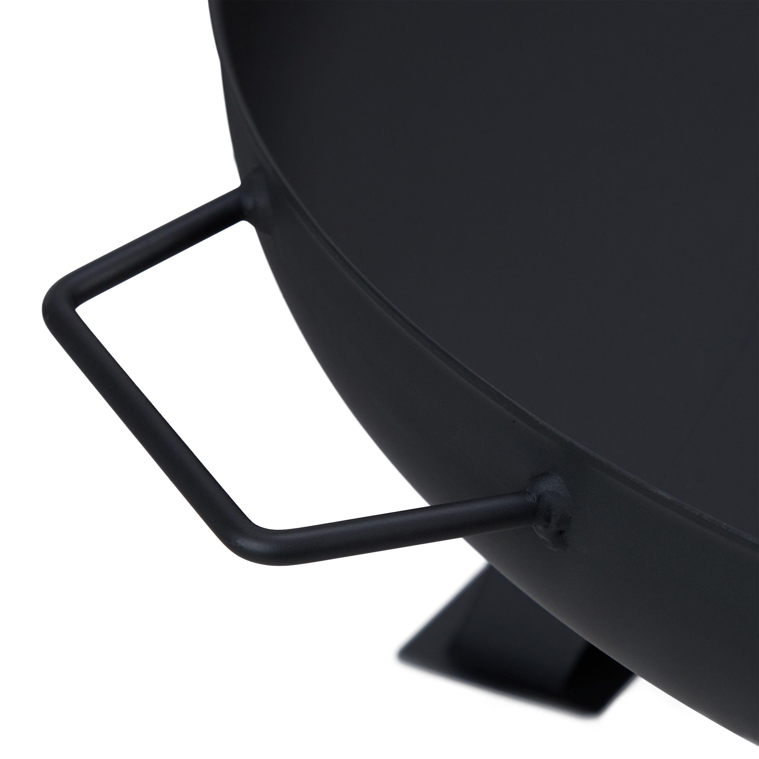 /Fuoco Bob con supporto Braciere /Ø 59/cm in acciaio inox/ /Nero laccato/