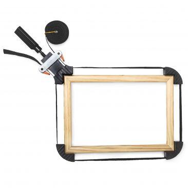 Rahmenspanner mit Spannbacken 4m  Gesamtansicht