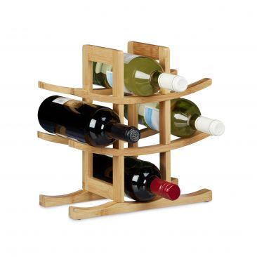 Weinregal Bambus für 9 Flaschen online kaufen