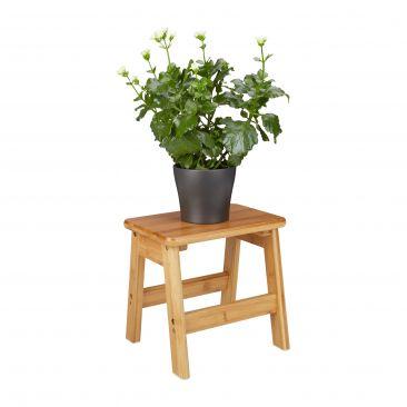 Fußbank aus Bambus als Blumenhocker & mehr