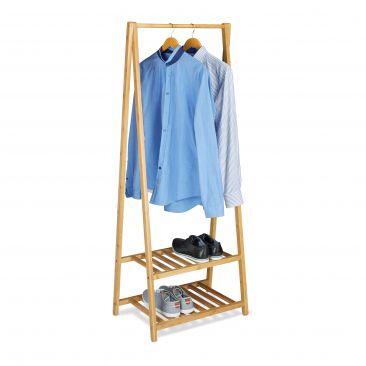 Kleiderständer Bambus mit Schuhablage kaufen