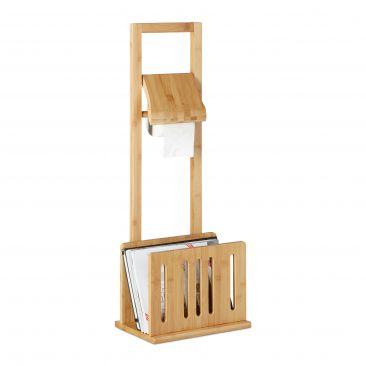 Toilettenpapierhalter mit Zeitungsständer Bambus