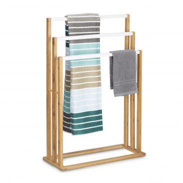 Bambus Handtuchhalter für Badetücher und Textilien