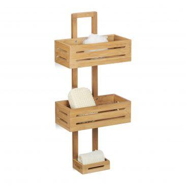 Duschregal Bambus für Schwämme, Seife, Shampoo...