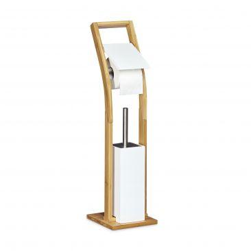 Stand WC Garnitur mit Rollenhalter & Klobürste