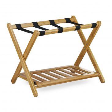 Kofferständer Bambus mit Schuhablage kaufen