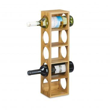 Weinregal lagert 5 Flaschen horizontal