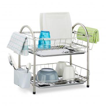 Abtropfgestell 2 Etagen zum Trocknen von Abwasch