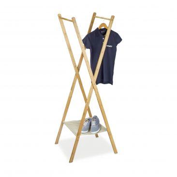 Kleiderständer Bambus mit 2 Kleiderstangen kaufen