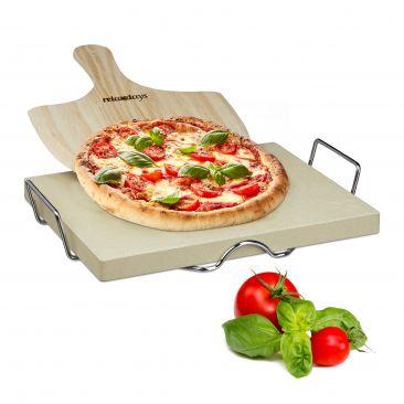 Pizzastein 3 cm Set mit Pizzaschaufel und Halter
