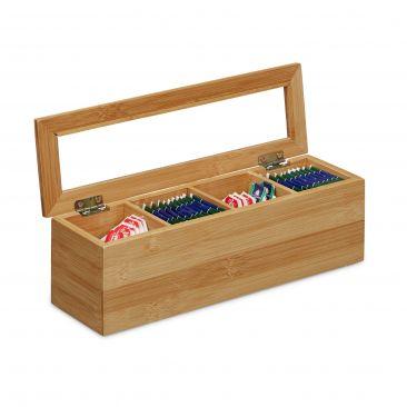 Teebox aus Bambus im natürlichen Design