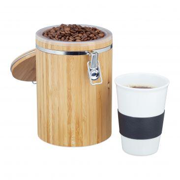 Kaffeedose Bambus Holz Optik hier online kaufen