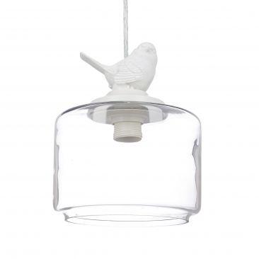 Deckenleuchte mit Vogel Figur auf Lampenschirm