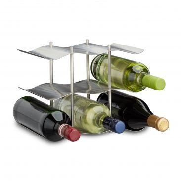Weinregal Edelstahl für 9 Flaschen Wein kaufen