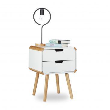 Nachttisch 2 Schubladen im skandinavischen Design