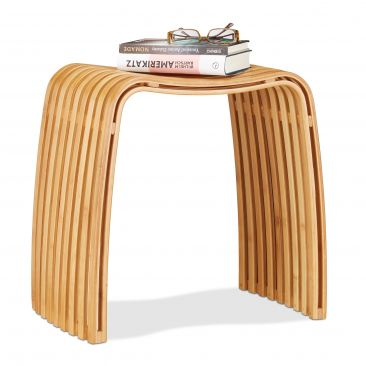 Garderoben Hocker im Bambus Design Gesamtansicht