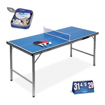 3er Tischtennisset Schlägerset Tischtennisplatte Netz Anzeigetafel manuell