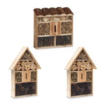 3 pz. Città insetti casetta hotel per insetti  da giardino come nido artificiale