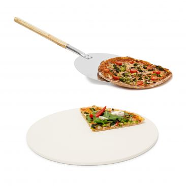 2er Pizza Set Pizzastein Baking Stone Pizzaschieber Pizzaschaufel Pizzaheber