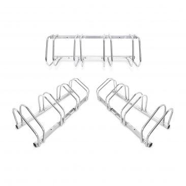 3er Set Fahrradständer Stahl Fahrradparker Outdoor Reihenparker Mehrfachständer
