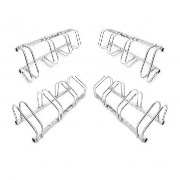4er Set Fahrradständer Fahrradhalter Bodenparker Bügelparker Wandmontage Stahl
