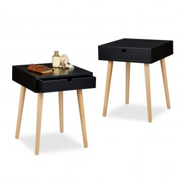 2x Nachttisch Set ARVID 2 Nachttischschränke Nachtschrank Nachtkonsole Holz