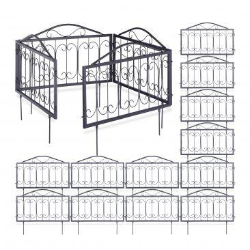 16er Beetzaun Set einzelne Zaunelemente zum Stecken Metallzaun Beetabgrenzung