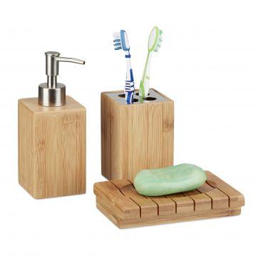 Badaccessoires Bambus im Set bestellen