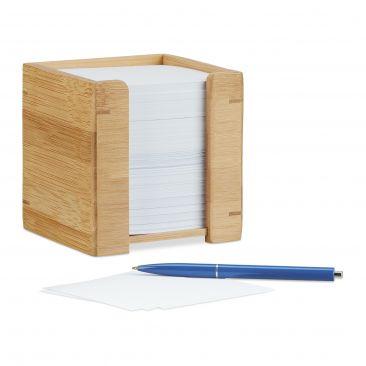 Zettelbox Bambus für Notizen aller Art