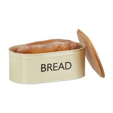 Brotkasten mit Aufschrift im Retro Design