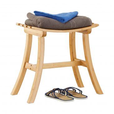 Hocker Bambus mit geschwungener Sitzfläche