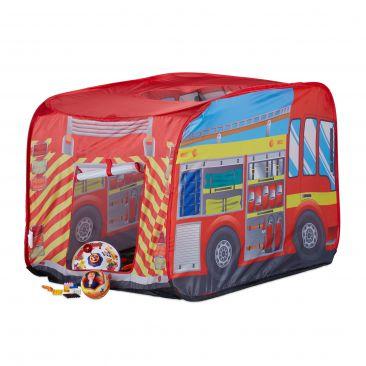 Spielzelt Feuerwehr für Kinder Gesamtansicht
