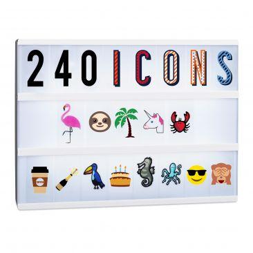 Lightbox Ergänzungsset mit 240 Zeichen Gesamtansicht