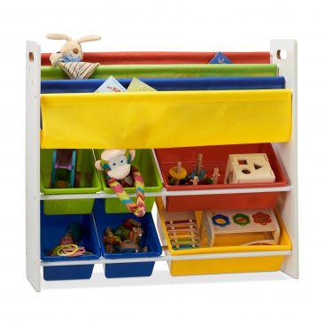 Kinderregal für Bücher und Spielsachen Gesamtansicht