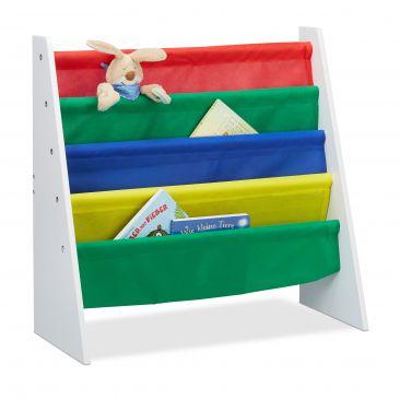Bücherregal für Kinder mit Stofffächern Gesamtansicht