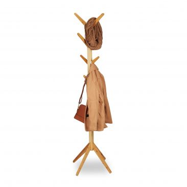Garderobenständer Bambus Gesamtansicht