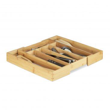 Besteckkasten Bambus 40cm ausziehbar Gesamtansicht