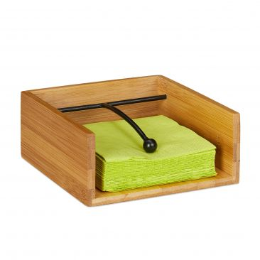 Serviettenhalter aus Bambus Gesamtansicht