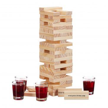 """Wackelturm Trinkspiel """"Drunken Tower"""" Gesamtansicht"""