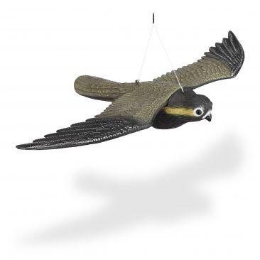 Raubvogel Attrappe Falke Gesamtansicht