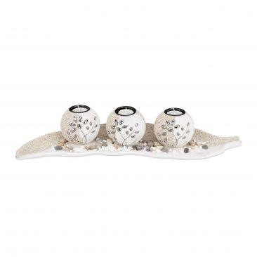 Teelichthalter Set Sand Gesamtansicht