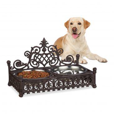 Futterbar Hunde aus Gusseisen Gesamtansicht