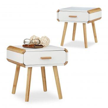 2x Nachttisch Nachtkommode Nachttischschränkchen Nachtschrank Nachttischschrank