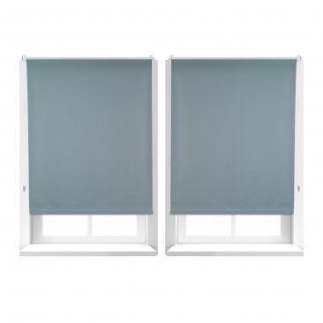 2er Set Verdunkelungsrollo blickdicht Sonnenschutzrollo beschichtet Fensterrollo