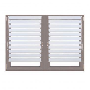 2er Set Doppelrollo Klemmfix Jalousie mit Kettenzug Seitenzugrollo Fensterrahmen