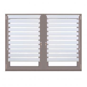 2er Set Doppelrollo Klemmfix mit Klemmträgern Fensterrollo 90 cm breit Duorollo