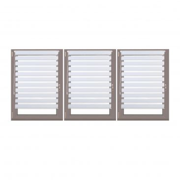 3er Set Doppelrollo 110x150 Fensterrollo zum Klemmen Seitenzugrollo Klemmrollo